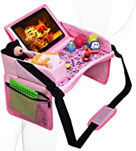 DMoose Kids Travel Tray, Toddler Car Seat Lap Activity Tray with Padded Comfort Base,..