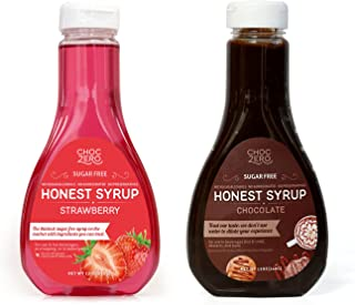 ChocZero's Chocolate Syrup and Strawberry Syrup. Sugar Free, Low Net Carb, No Preservatives. Gluten Free. No Sugar Alcohol...