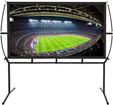 Portable Projector Screen with Stand, Indoor and Outdoor Movie Screen 16:9 with..