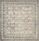 Unique Loom Salzburg Collection Traditional Oriental Gray Square Rug (5' 0 x 5' 0)