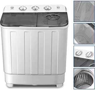 Portable Washing Machine 17lbs Compact Twin Tub Washer and Dryer Combo for..