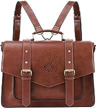 ECOSUSI Backpack for Women Briefcase Messenger Laptop Bag Vegan Leather Satchel Work Bags..