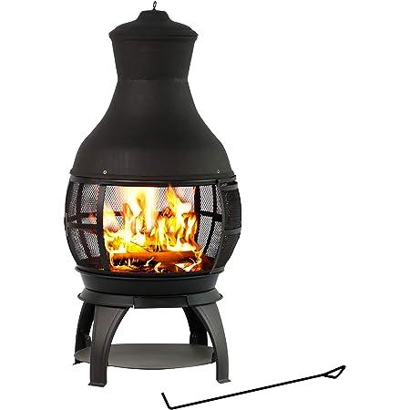 Amazon Com Bali Outdoors Wood Burning Chimenea Outdoor Round Wooden Fire Pit Fireplace Garden Outdoor