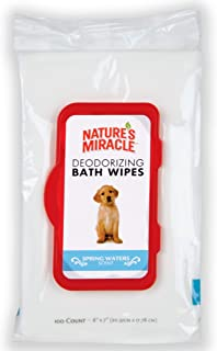 Nature's Miracle Deodorizing Bath Wipes for Dogs,