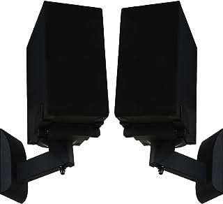 WALI Dual Side Clamping Bookshelf Speaker Wall Mounting Bracket for Large Surrounding..