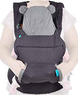 Infantino Cuddle Up Carrier – Ergonomic Bear-Themed, face-in Front Carry and Back..