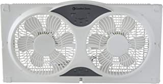 CCC Comfort Zone Twin Window Fan with Remote | 3 Speed, High Velocity, Dual Blade Fans