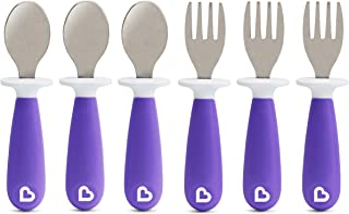 Munchkin Raise Toddler forks and Spoons 6 Piece, Purple