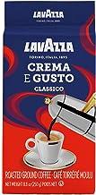 Lavazza Crema e Gusto Ground Coffee Blend, Espresso Dark Roast, 8.8 Oz Bricks (Pack of 4)