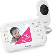 """VTech VM3252 Video Baby Monitor with 1000ft Long Range, Auto Night Vision, 2.8"""" Screen,.."""