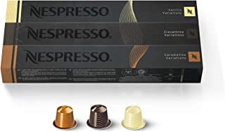 Nespresso Capsules OriginalLine , Flavored Variety Pack, Medium Roast Coffee, 30 Count..