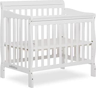 Dream On Me Aden 4-in-1 Convertible Mini Crib, White