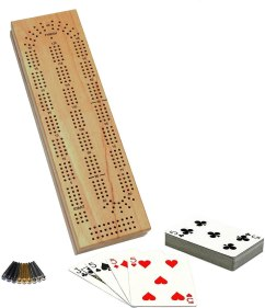 Amazon.com: WE Games Cabinet Cribbage Set - Solid Wood Continuous 3 Track  Board with Easy Grip Pegs, Cards and Storage Area: Toys & Games