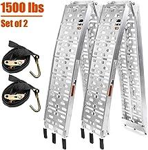 TOOCA Aluminum Ramps 2 Pcs 7.5' Folding Loading Ramps | 1500lbs Capacity Heavy-Duty..