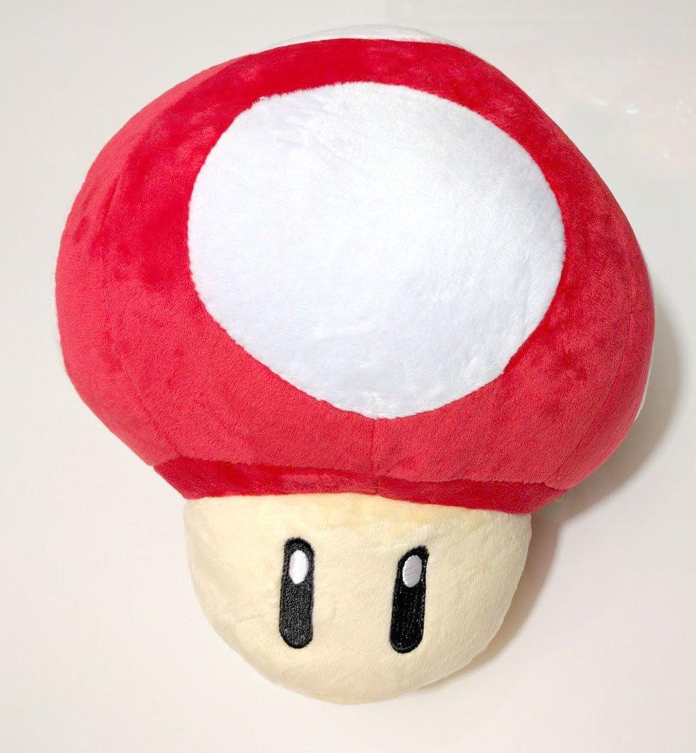 Super Mario Brothers Red Mushroom 8 Inch Plush Toys Games Amazon Com
