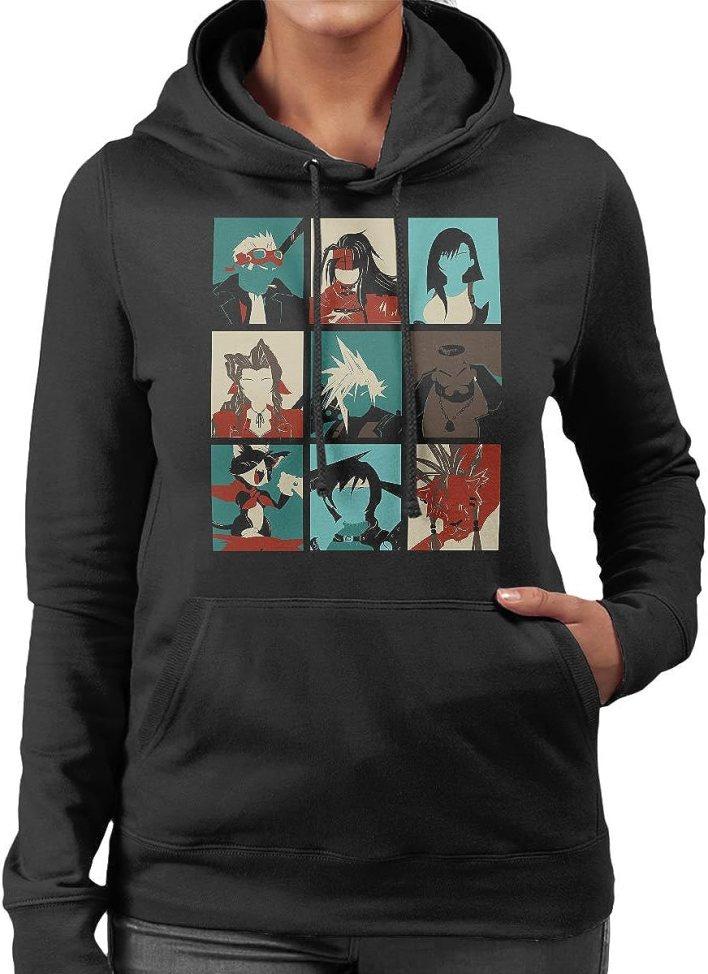 Final Fantasy 7 Pop Art Women's Hooded Sweatshirt