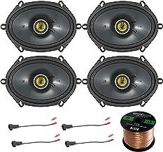 Car Speaker Set Combo of 4 Kicker 40CS684 6×8 Inch 450W 2-Way Car Coaxial Stereo..