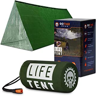 Go Time Gear Life Tent Emergency Survival Shelter – 2 Person Emergency Tent – Use As..