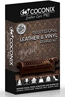 Coconix Brown Leather Repair Kits for Couches – Vinyl & Upholstery Repair Kit..