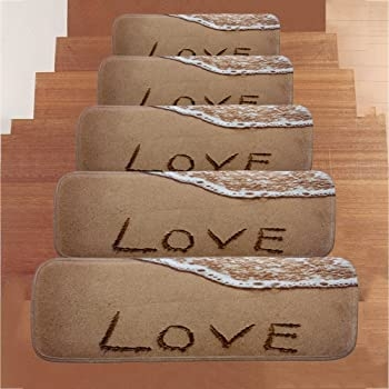 Amazon Com Clearance Sale Set Of 5 Carpet Stair Treads Non Slip   Wood Stairs For Sale   Cheap   Trailer   Open Tread   Landing   Wooden