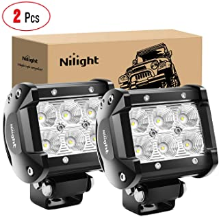 Nilight Led Pods 2PCS 18W 1260LM Flood Led Off Road Lights Super Bright Driving Fog Light..