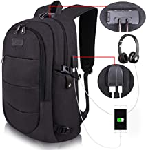Travel Laptop Backpack Water Resistant Anti-Theft Bag with USB Charging Port and Lock..