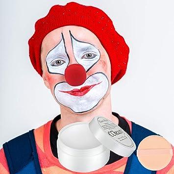 White Clown Face Paint Makeup