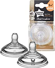 Tommee Tippee Closer to Nature, Baby Bottle, Fast Flow, 6+ Months, 2 Count
