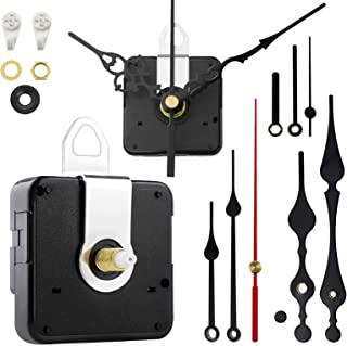 StFlyBro 2 Non Ticking Clock Movements with 4 Pack Different Size Clock Hands, DIY Repair..