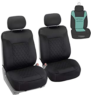 FH Group FB088102 Neosupreme Deluxe Quality Car Seat Cushions (Black) Front Set with Gift..