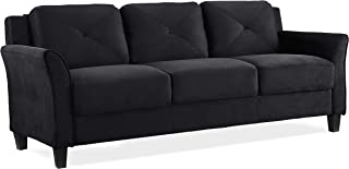 Lifestyle Solutions Collection Grayson Micro-fabric Sofa, Black