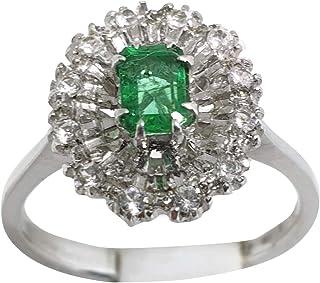 Esmeralda Natural 0,50 quilates. Diamantes 0,15 quilates