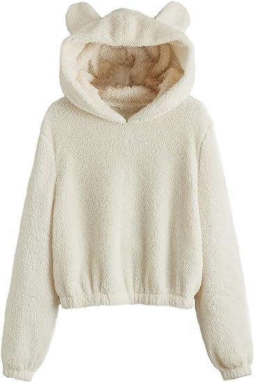 cozy cuddle bear sweater white