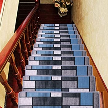 Hqchoose Stair Treads Carpet 8 Inches X 30 Inches Pack Of 13 | Stair Treads For Carpeted Stairs | Wood Stairs | Laminate | Anti Slip Stair | Basement Stairs | Skid Resistant