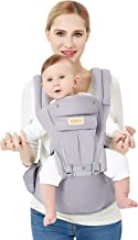 3D Baby Hip Carrier All Season Baby Sling with 9 Carry Positions Truly Hands-Free for..