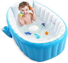 Baby Inflatable Bathtub, Portable Infant Toddler Bathing Tub Non Slip Travel Bathtub Mini..