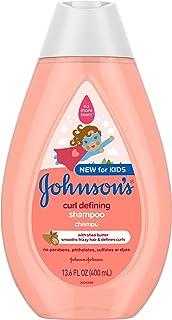 Johnson's Curl-Defining, Frizz Control, Tear-Free Kids' Shampoo with Shea..