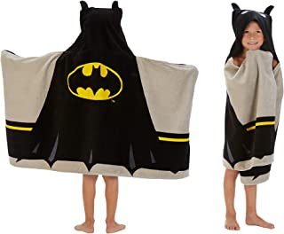 "Franco HH4598 Kids Bath and Beach Soft Cotton Terry Hooded Towel Wrap, 24"" x 50"", Batman"