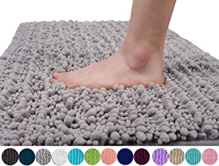 Yimobra Original Luxury Shaggy Bath Mat, 24 x 17 Inches, Soft and Cozy, Super Absorbent..