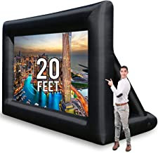 Jumbo 20 Feet Inflatable Outdoor and Indoor Theater Projector Screen – Includes..