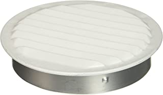 Maurice Franklin Louver RLW-100 4, 4-Inch Mini Round Aluminum Insect Proof Mini Louvers With Screen, White (Pack of 4)