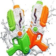 ToyerBee Water Gun for Kids, 2 Pack Squirt Guns 1200CC High Capacity &30-35 Feet..