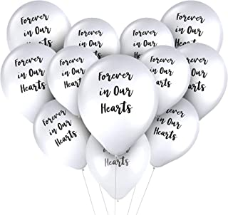 Juvale Memorial Balloons, Forever in Our Hearts (12 in, 30 Pack)