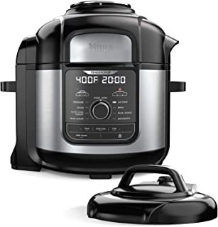 Ninja FD401 Foodi 8-qt. 9-in-1 Deluxe XL Cooker & Air Fryer-Stainless Steel Pressure Cooker, 8-Quart