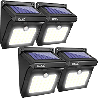 BAXIA TECHNOLOGY BX-SL-101 Solar Lights Outdoor 28 LED Wireless Waterproof Security Solar..