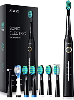 ATMOKO Electric Toothbrushes for Adults with 8 Duponts Brush Heads, 5 Modes, 4 Hour Charge for 30 Days Use, 40,000 VPM Mot...