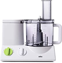 Braun FP3020 12 Cup Food Processor Ultra Quiet Powerful motor, includes 7 Attachment..