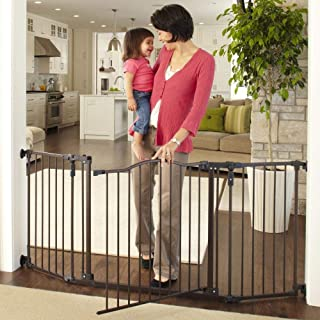 "Toddleroo by North States 72"" wide Deluxe Décor Baby Gate: Sturdy extra wide baby gate.."
