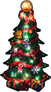 """Northlight 17.75"""" Lighted Christmas Tree with Presents Window Silhouette"""
