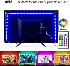 Led Strip Lights 6.56ft for 40-60in TV, PANGTON VILLA USB LED TV Backlight Kit with..